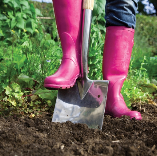 Gardening in Pink Wellies